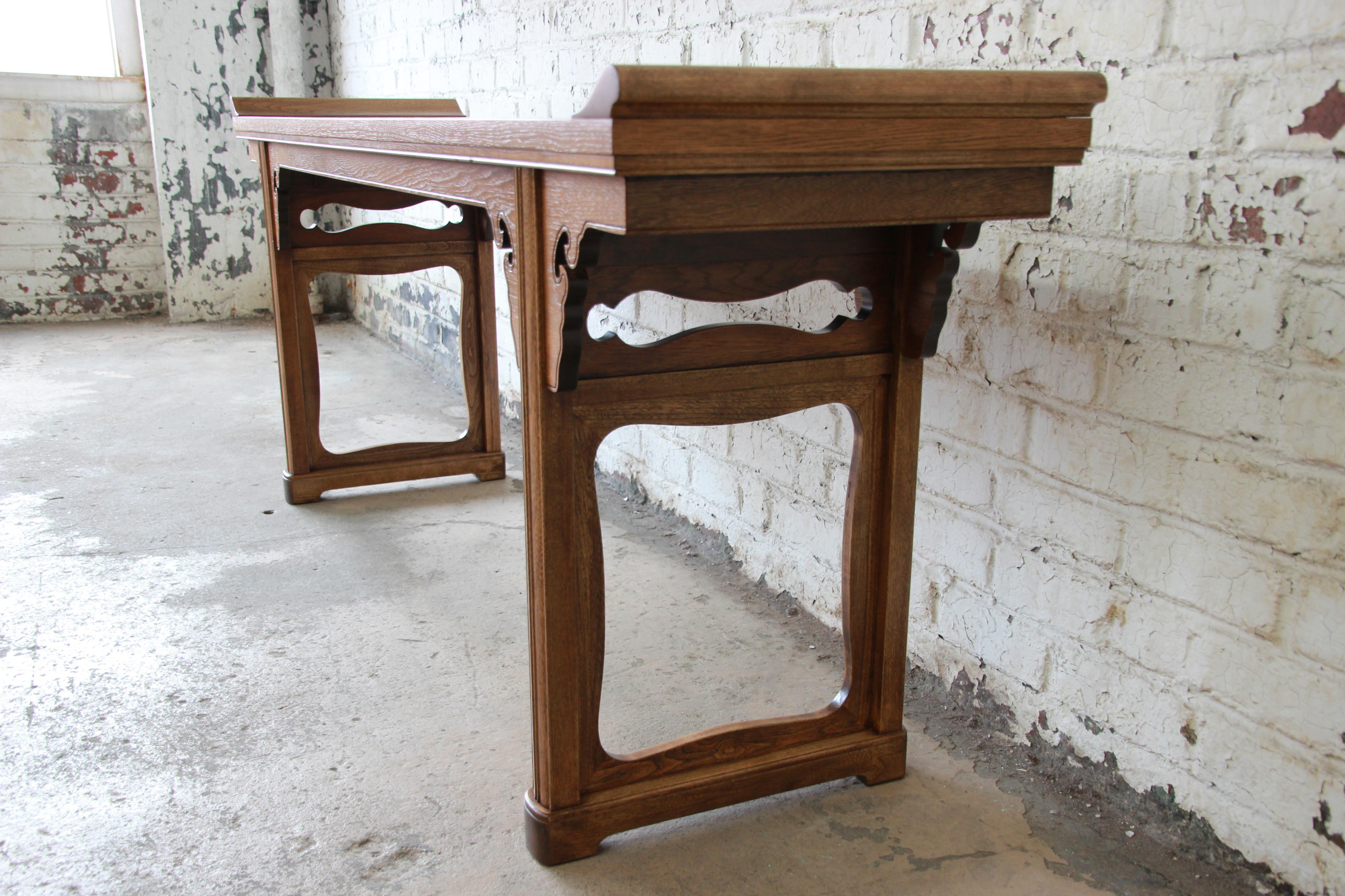 Beautiful Burled Altar Table By Baker   Image 6 Of 11