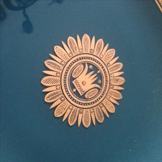 Vintage Georges Briard Glass Serving Tray For Sale - Image 5 of 11