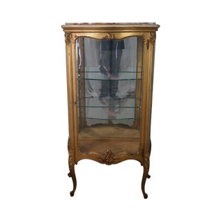 Antique French Louis XV Style Vitrine Curio Cabinet