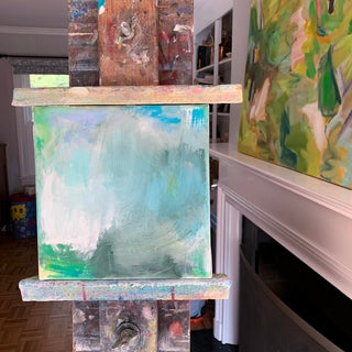 """""""Surf"""" by Trixie Pitts Mini Abstract Oil Painting Preview"""