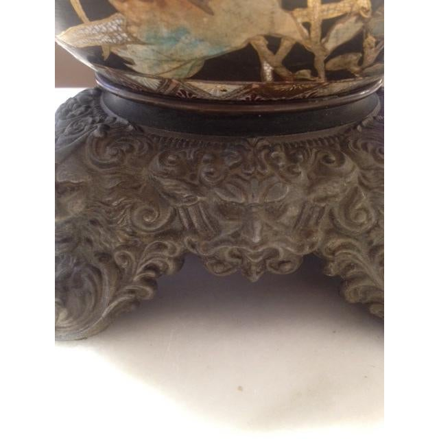 Vintage Asian Hand Painted Ceramic Gord Lamp - Image 11 of 11