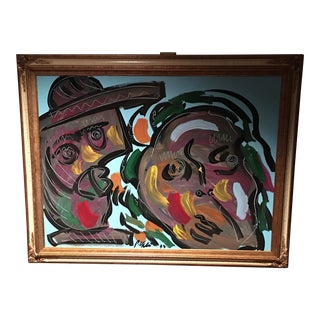 Abstract Peter Keil Giant Fauvist Painting For Sale