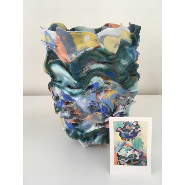 Ceramic La Femme Au Chapeau Sculptural Porcelain Vase by Babs Haenen, Inspired by Henri Matisse For Sale - Image 7 of 8