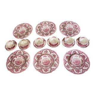 Johnson Bros China Old Britain Castles - Set of 30 For Sale