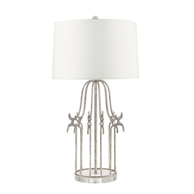 Stella Silver Table Lamp For Sale - Image 4 of 8