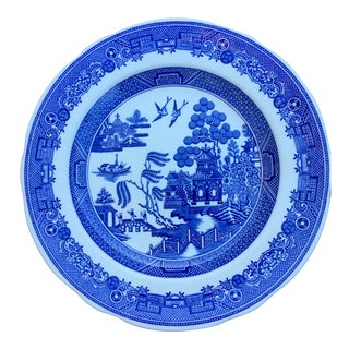 Vintage Blue Willow Plate by Spode For Sale