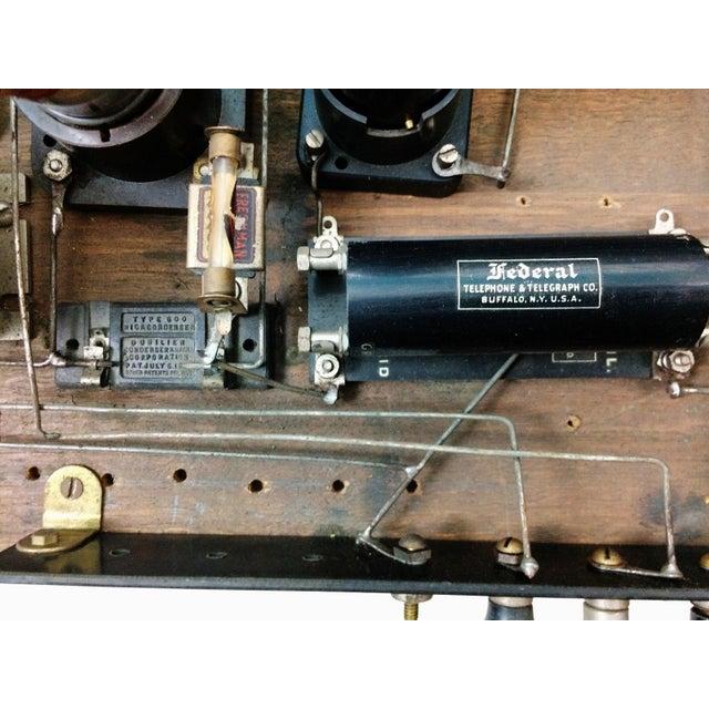 1920s 4 Tube Regen Wood Case Radio & C. Brandes Headphones - Image 8 of 10
