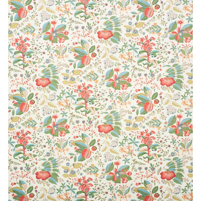 Based on an 18th-century design, this mid-scale botanical—an allover, multi-directional print—has a lush sensibility and a...