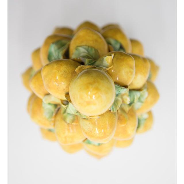 Mid 20th Century Vintage Italian Majolica Lemon Topiary For Sale - Image 5 of 7
