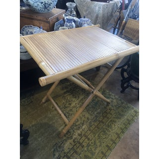 Boho Chic Bamboo Folding Tray Table Preview