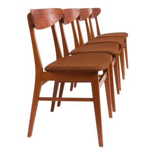 Vintage Danish Modern Teak & Beach Farstrup Dining Chairs For Sale