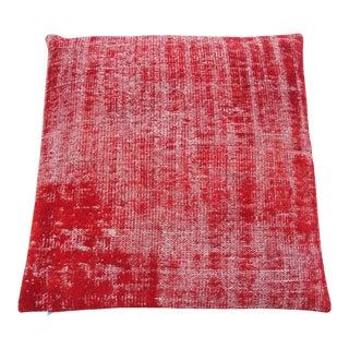 Vintage Turkish Overdyed Rug Floor Pillow & Dog Bed