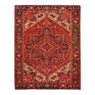 Pasargad Rust Antique Persian Heriz Serapi Rug 7'2'' X 9'4'' For Sale