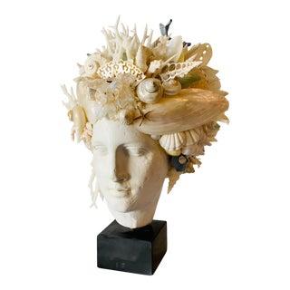 Large Hygiea Shell-Encrusted Head For Sale