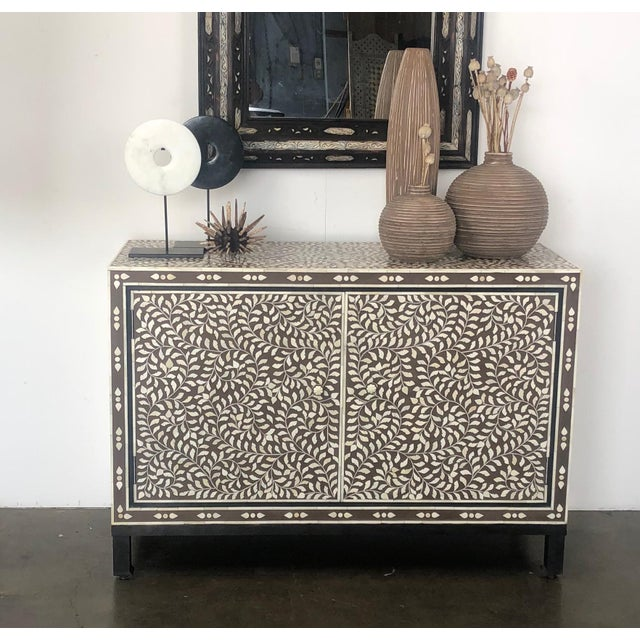 Moroccan Inspired Bone Inlay Cabinet For Sale In Los Angeles - Image 6 of 7