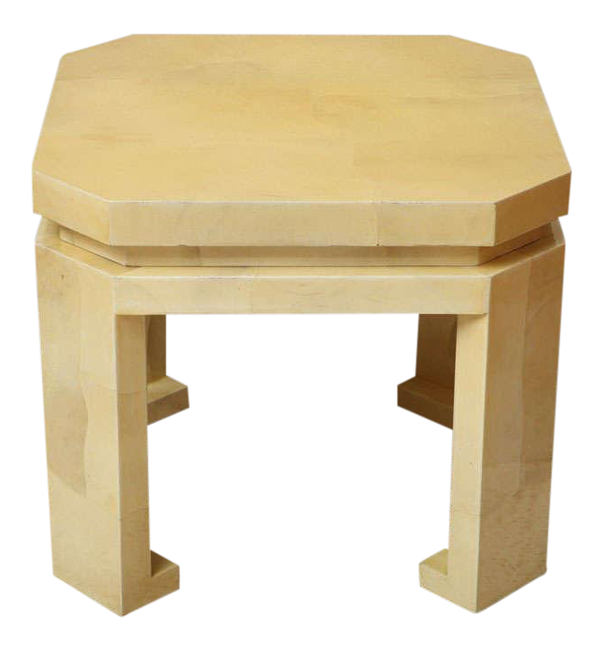 Asian  Style Parchment Table For Sale