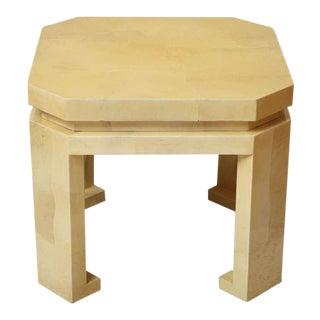 Large Asian Style Parchment Table by Enrique Garces For Sale