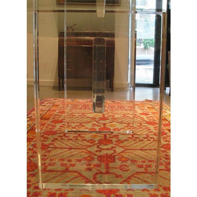 1970's Lucite Executive Desk / Dining Table For Sale - Image 11 of 13