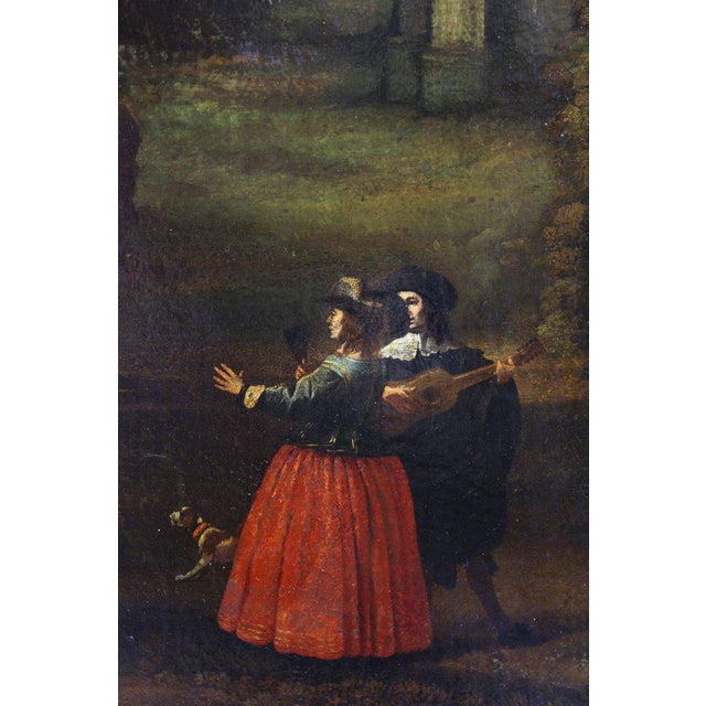 Blue Flemish Oil on Canvas Capriccio by John Miel For Sale - Image 8 of 11
