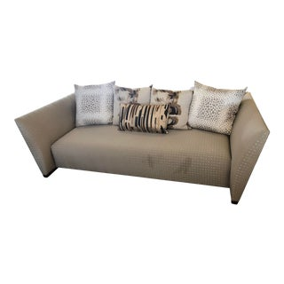 Donghia Peninsula Sofa with 5 Pillows For Sale