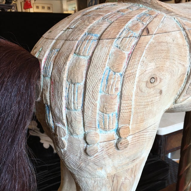 Antique Wooden Carousel Horse For Sale In San Francisco - Image 6 of 11