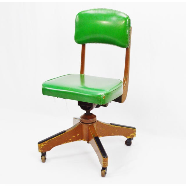 Taylor Chair Company Mid-Century Adjustable Desk Chair For Sale - Image 4 of 11