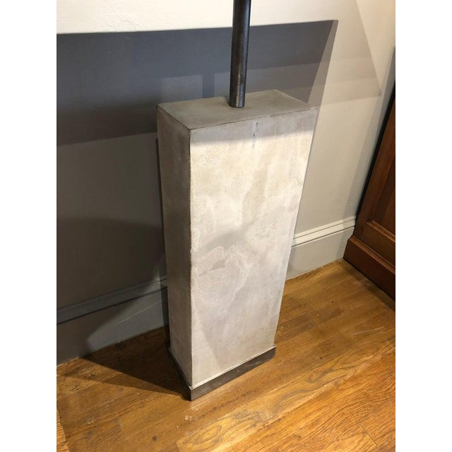 Mid-Century Modern Mid-Century Style Limestone and Steel Console Table For Sale - Image 3 of 8
