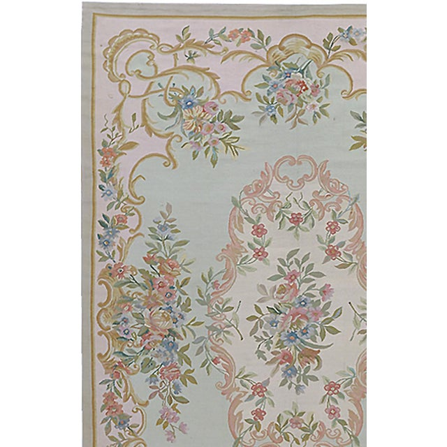 """Pasargad Aubusson Hand Woven Wool Rug - 6'1"""" x 8'11"""" - Image 2 of 3"""