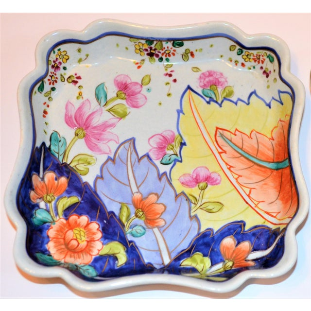 This is a fun little hand painted Trinket Dish in the Tobacco Leaf pattern. It was produced for J.E. Caldwell in Italy and...