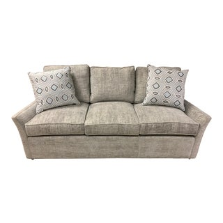 Traditional Norwalk Upholstery Sofa Plus Pillows For Sale