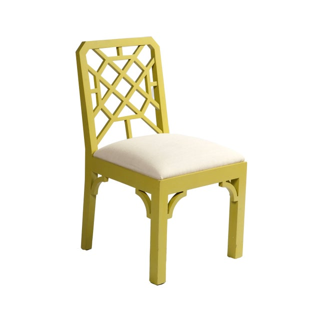 Color Pop Chartreuse Chippendale Chair For Sale