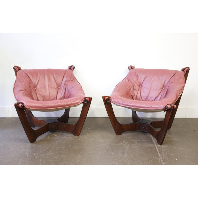 Mid Century Modern Odd Knutsen Luna Chairs- a Pair For Sale - Image 11 of 11