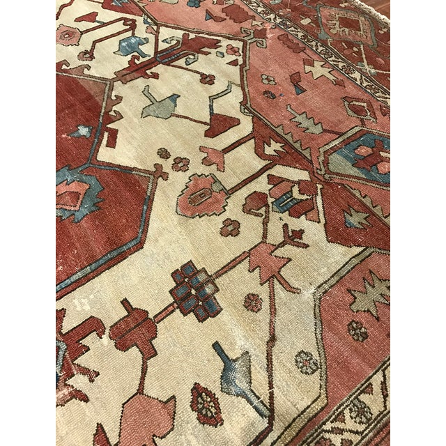Antique Persian Serapi Rug For Sale - Image 4 of 6