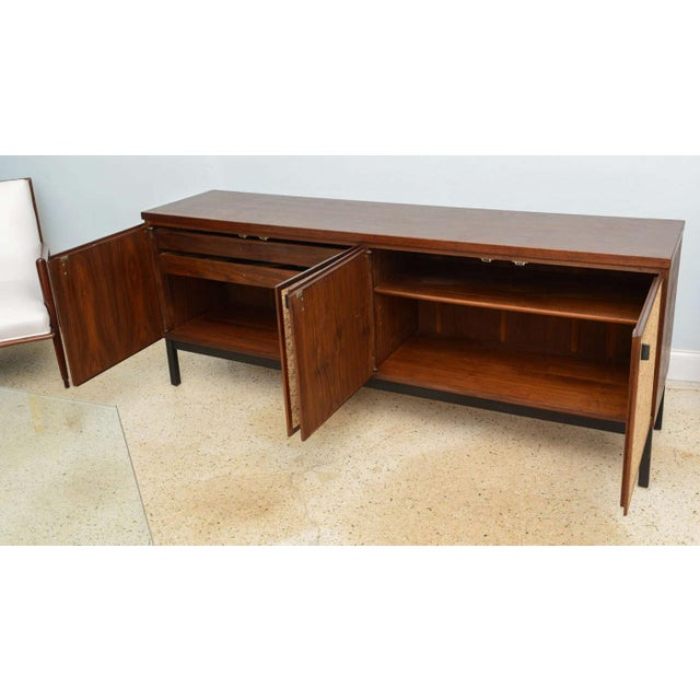 Italian Modern Mahogany and Cork Four-Door Credenza or Buffet For Sale - Image 4 of 9