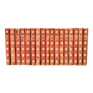 Antique Leather-bound Complete Book Collection of the Works of Charles Dickens, 1904-07