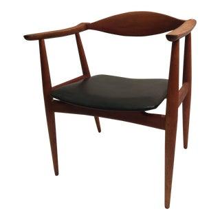 1950s Vintage Hans J Wegner for Carl Hansen & Son Arm Chair For Sale