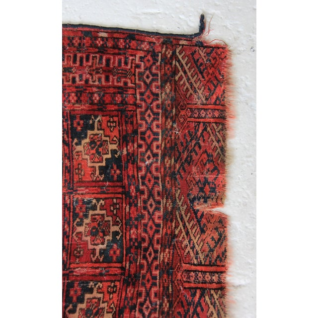 Vintage Red Square Rug - 3′ × 3′1″ - Image 6 of 6