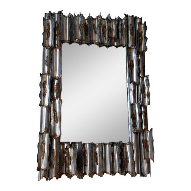 Exceptional American Brutalist Mirror For Sale