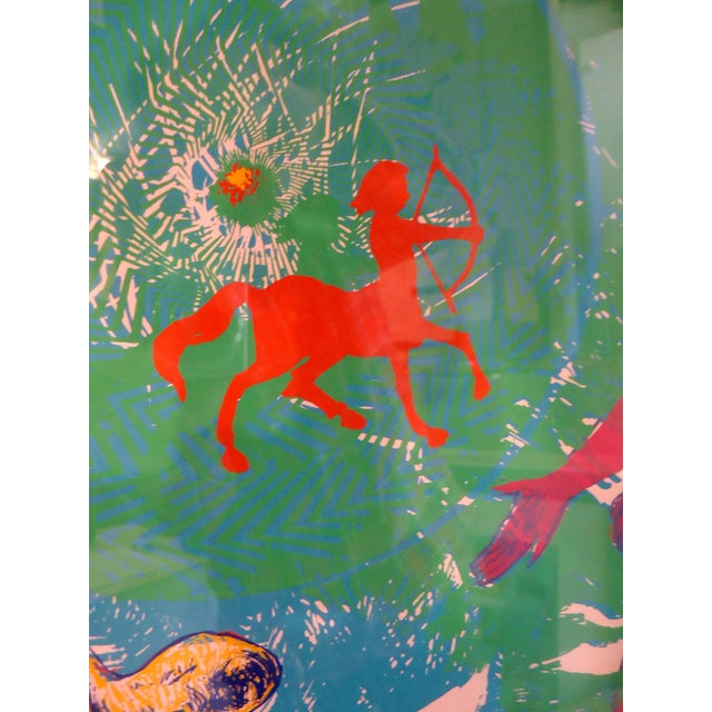 "1960s Vintage Modern Wall Art "" Aries "" For Sale - Image 5 of 11"