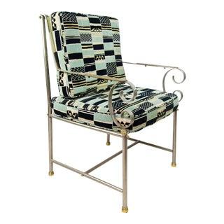 Maison Jansen Mid-Century Chrome Armchair For Sale