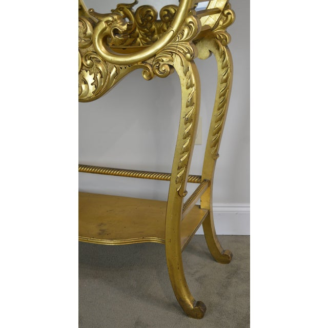 Victorian Era French Louis XV Style Gilt Mirror Back Etagere For Sale - Image 11 of 13