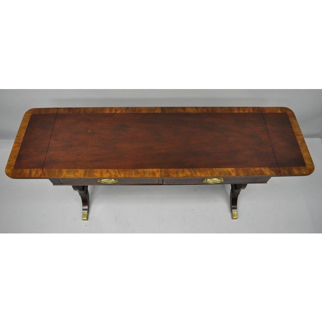 Baker Banded Mahogany Dropleaf Hall or Sofa Table For Sale In Philadelphia - Image 6 of 13