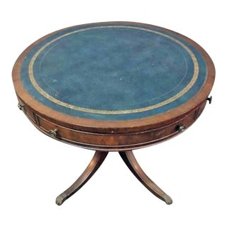 20th Century Traditional W & J Sloane Drum Leather Table For Sale