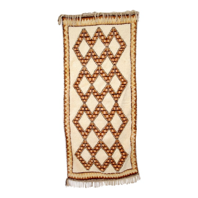 Moroccan Azilal Runner - 3′4″ × 8′ For Sale