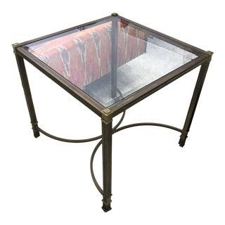 1970s Italian Brass Side Table For Sale