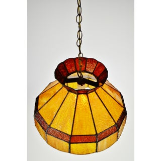 Vintage Slag Glass Tiffany Style Chandelier Preview