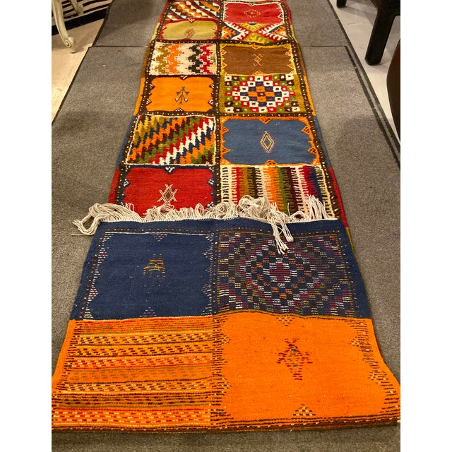 """Berber Handwoven Patchwork Rug-2'2'x8'8"""" For Sale In New York - Image 6 of 8"""