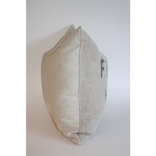 Vintage Grain Sack Pillow - Image 3 of 4