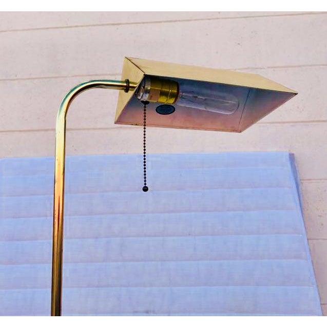 Walter Von Nessen Swing Arm Brass Floor Lamp - Image 4 of 5