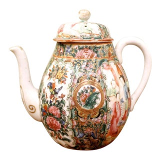 Rose Medallion Teapot